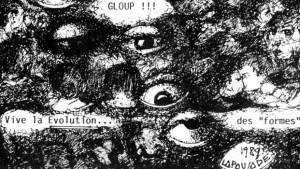© Robert Lapoujade, détail d'une Carte blanche pour le Quotidien du Festival d'Annecy, 1989