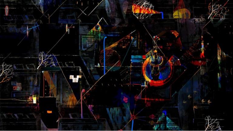 """Recherches graphiques pour le projet """"La lampadaire"""" © Emma Vakarelova"""