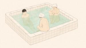 """Recherche graphique pour le projet """"The Bather"""" © Yumi Joung"""