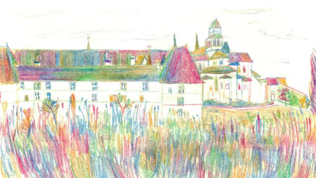 Dessin de l'Abbaye de Fontevraud © Andréa Schneider, lauréate FOCAL 2016