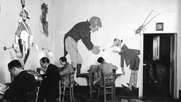 """Visuel : animateurs travaillant sur le film """"Les aventures de Pinocchio"""" en 1936"""