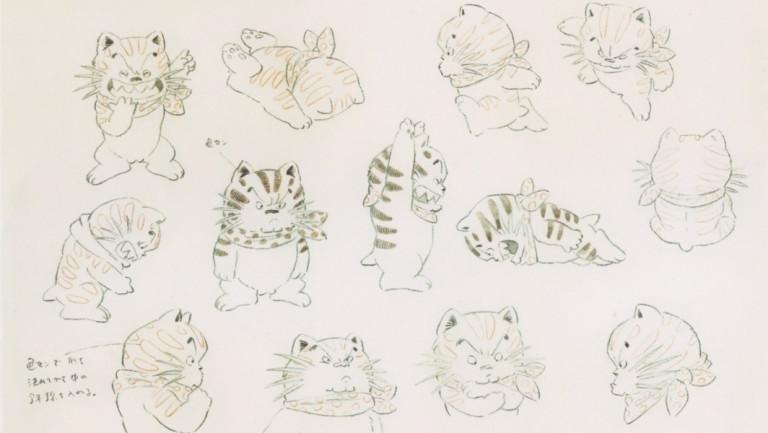 """Modèles pour le personnage du chat dans le film """"Kié la petite peste"""", 1981 © Kotabe Yoîchi"""