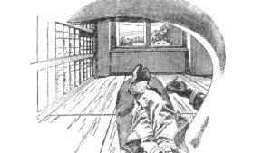© Vue depuis l'œil gauche, dessin de Ernst Mach, 1886
