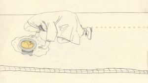 """Recherches graphiques pour le projet """"Mise en culture, récolte et dispersion des épines"""" © Jeanne Girard"""