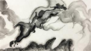 """Recherches graphiques pour le projet """"When I sleep, my dreams come"""" © Liu Yi"""